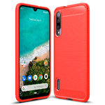 Flexi Slim Carbon Fibre Case for Xiaomi Mi A3 - Brushed Red